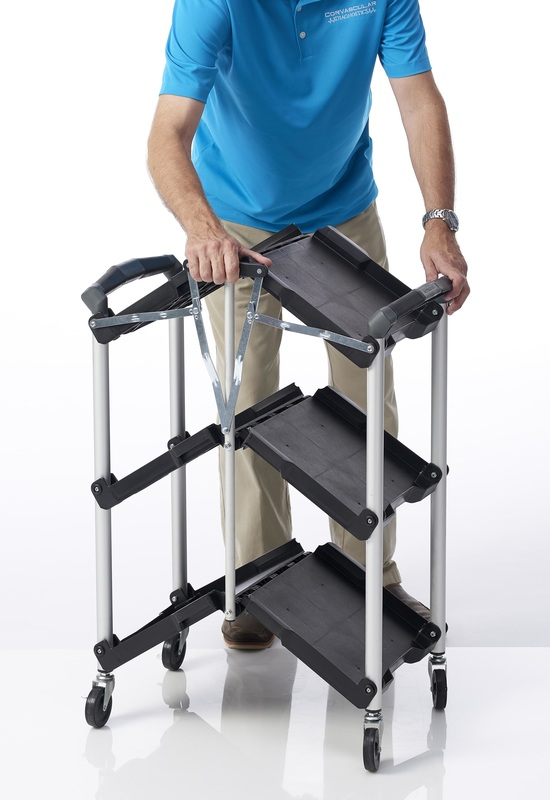 easy to use foldable rolling cart
